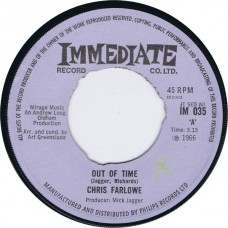 CHRIS FARLOWE Out Of Time / Baby Make It Soon (Immediate IM 035) UK 1966 45