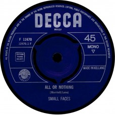 SMALL FACES All Or Nothing (Decca F 12470) Holland 1966 45