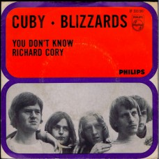 CUBY AND THE BLIZZARDS You Don't Know / Richard Cory (Philips JF 333587) Holland 1966 PS 45