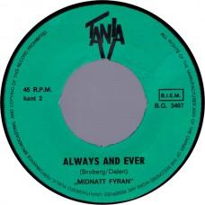 MIDNATT FYRAN Stop The Music / Always and Ever (Tania 3407) Amstelveen, Holland 1966 45
