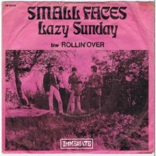 SMALL FACES Lazy Sunday / Rollin'Over (Immediate IM 23784) Germany 1968 PS 45