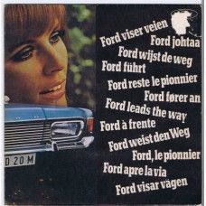 SAMANTHA JONES Go Ahead / Ford Leads The Way (Ford SLE 19) UK 1968 PS 45 (Mark Wirtz)