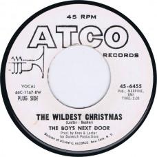 BOYS NEXT DOOR The Wildest Christmas / Christmas Kiss (Atco 45-6455) US 1966 Promo 45
