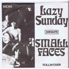 SMALL FACES Lazy Sunday / Rollin'Over (Immediate IM064) Denmark 1968 PS 45