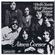 AMEN CORNER Hello Susie / Evil Man's Gonna Win (Immediate 90130) Germany 1969 PS 45