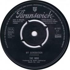 WHO,THE My Generation / Shout and Shimmy (Brunswick 05944) UK 1965 45
