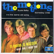 MOTIONS I Want You I Need You / Suzie Baby / Someday Child / It's The Same Old Song (Marfer Records MN 679) Spain 1967 PS EP