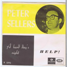 PETER SELLERS It's Been A Hard Day's Night / Help! (Parlophone R 5393) Norway 1965 PS 45