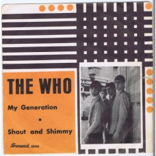 WHO,THE My Generation / Shout and Shimmy (Brunswick 05944) Sweden 1965 PS 45