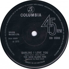 DAVE CLARK FIVE Everybody Get Together / Darling I Love You (Columbia DB 8660) UK 1970 45