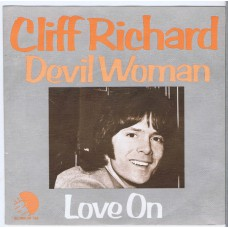 CLIFF RICHARD Devil Woman / Love On (EMI 06143) Holland 1976 PS 45