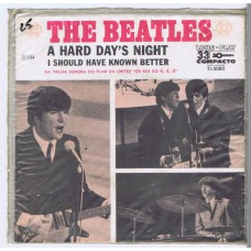 BEATLES A Hard Day's Night / I Should Have Known Better (7l-3083) Brazil 1964 PS 45