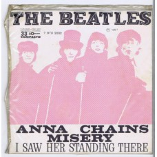 BEATLES Anna / Chains / Misery / I Saw Her Standing There (Odeon 7BTD-2002) Brazil 1967 PS EP