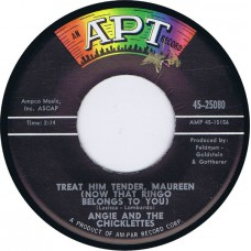 ANGIE AND THE CHICKLETTES Treat Him Tender, Maureen (Now That Ringo Belongs To You) / Tommy (APT 25080) USA 1965 45