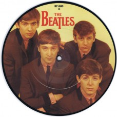 "BEATLES Love Me Do / P.S. I Love You (Parlophone RP 4949) UK 1982 7"" picture disc single of 1962 recording 45"