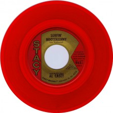 Stacy 962 AL CASEY With The K-C-ETTES - Surfin' Hootenanny USA 1963 red vinyl 45 (Hazlewood)