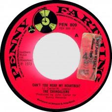 (Penny Farthing 809) CHANDELIERS Can't You Hear My Heartbeat UK 1973 cs 45