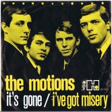 MOTIONS It's Gone / I've Got Misery (Havoc SH 105) Holland 1964 PS 45
