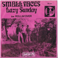 SMALL FACES Lazy Sunday / Rollin' Over (Immediate IM 064) Belgium 1968 PS 45
