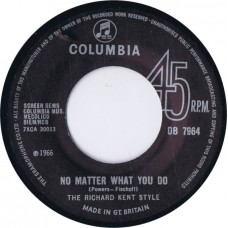 RICHARD KENT STYLE, THE No Matter What You Do / Go, Go Children (Columbia DB 7964) UK 2008 excact copy of 1966 45