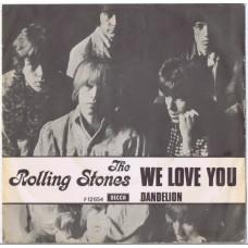 ROLLING STONES We Love You / Dandelion (Decca 12654) Denmark 1967 PS 45