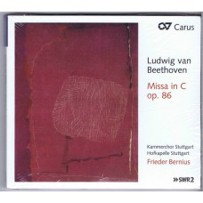 BEETHOVEN Missa in C op. 86 Frieder Bernius (Carus 83295) Germany 2013 CD