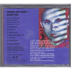 BRIAN ENO Words & Music From Wrong Way Up (Opal PRO-CD-4691) USA 1991 promo-only CD