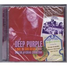 DEEP PURPLE Live in San Diego 1974 (Sonic Zoom PUR 256) UK 2007 CD