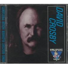 DAVID CROSBY King Biscuit Flower Hour Presents (King Biscuit Flower Hour 70710-88007-2) USA 1989 Live CD