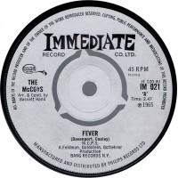MCCOYS Fever / Sorrow (Immediate 021) UK 1965 45
