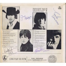 BEATLES Help! (Parlophone PMC 1255) UK 1965 mono AUTOGRAPHED LP