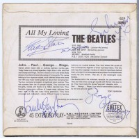 BEATLES All My Loving / Ask Me Why / Money / P.S. I Love You (GEP 8891) UK 1964 EP (Autographed / cover only)