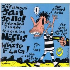 NECROS / WHITE FLAG Jail Jello (Gasanka Records JC 9012) USA 1986 white label test-pressing mini-LP