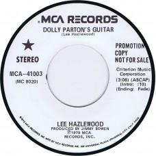 LEE HAZLEWOOD Dolly Parton's Guitar / A Taste Of You (MCA 41003) USA 1979 white label promo 45