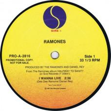 """RAMONES I Wanna Live / I Wanna Live (Sire PRO-A-2816) USA 1987 12"""""""