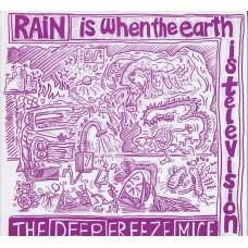 DEEP FREEZE MICE Rain Is When The Earth Is Television (Cordelia ERICAT 013) UK 1986 LP