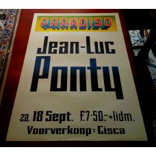 JEAN LUC PONTY - Paradiso Amsterdam Sept. 18 1976 original concert poster (61x43cm)