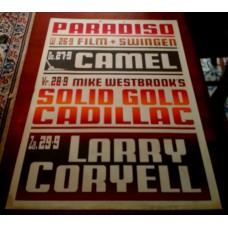 CAMEL / SOLID GOLD CADILLAC / LARRY CORYELL - Paradiso Amsterdam Sept. 27/28/29 1973 original concert poster (61x43cm) screenprint