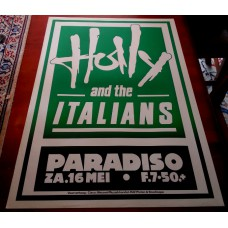 HOLLY AND THE ITALIANS - Paradiso Amsterdam May.16 1981 original concert poster (61x43cm) screenprint / Support: Demolition Decorators