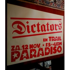 DICTATORS - Paradiso Amsterdam Nov.12 1977 original concert poster (61x43cm) screenprint