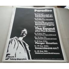 August 1981 Paradiso Amsterdam original concert poster  incl. SOUND (61x43cm) m-