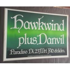 HAWKWIND Paradiso Amsterdam 23-03 1982 original concert poster (61x43cm)