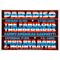 FABULOUS THUNDERBIRDS / CHRIS REA BAND Paradiso Amsterdam 16-05-1980 original concert poster (43x61cm)