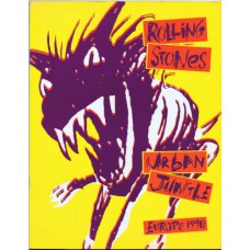 ROLLING STONES Urban jungle Tour Programme Book 1990 with insert