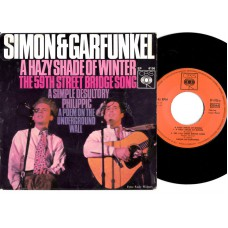 SIMON AND GARFUNKEL A Hazy Shade Of Winter +3 (CBS) Germany PS EP