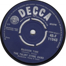 ALAN FREEMAN / TALMY STONE BAND Madison Time / Madison Time (Decca 11543) UK 1962 45