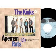 KINKS Apeman / Rats (PYE 14790) Germany 1970 PS 45