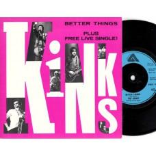 KINKS Better Live + Free Single (Arista) UK 1981 PS 45's