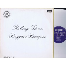 ROLLING STONES Beggars Banquet (Decca) Holland White Vinyl LP