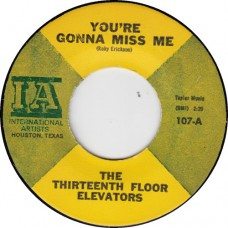 13th FlOOR ELEVATORS You're Gonna Miss Me / Tried To Hide (International Artists 107) USA 1966 45